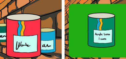 آموزش رنگ آمیزی دیوار آجری