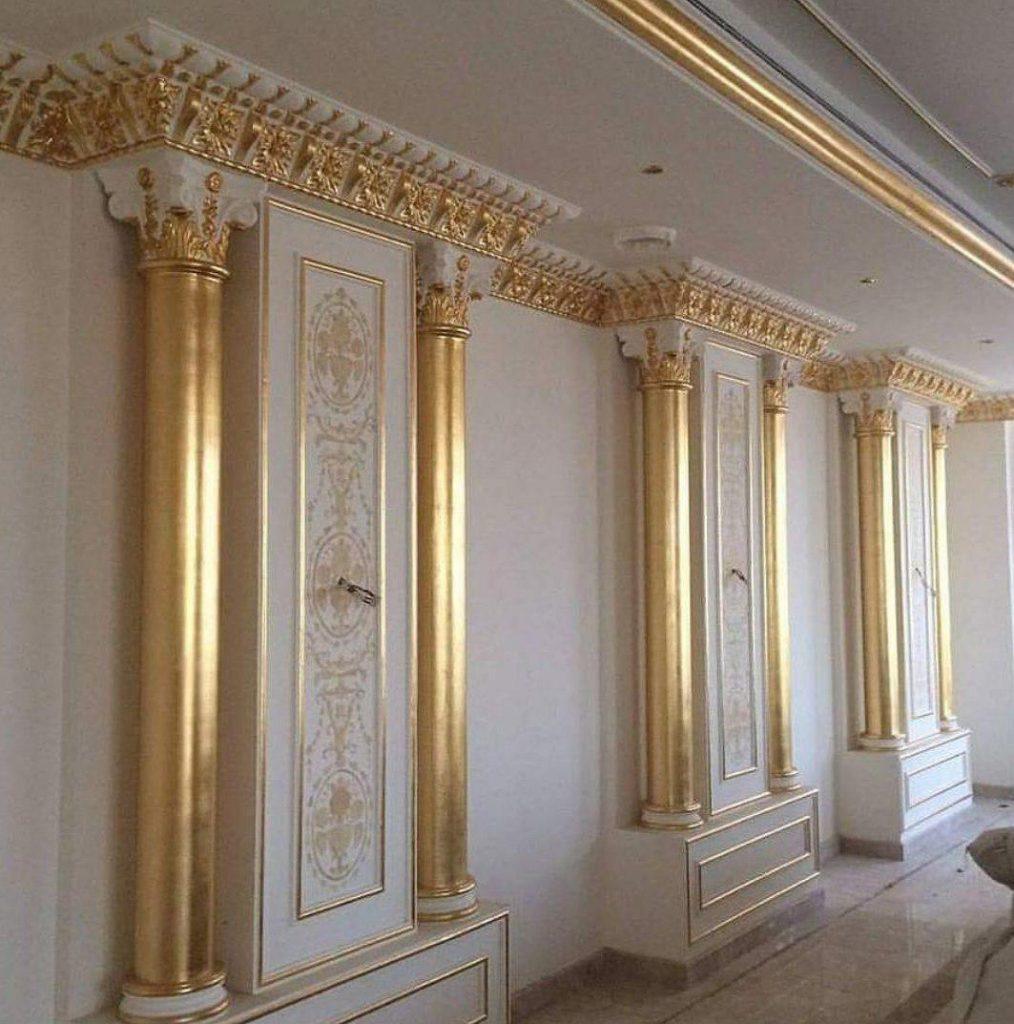 نقاشی ساختمان با ورق طلا